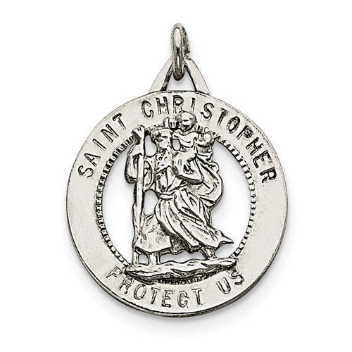 Sterling Silver St. Christopher Medal (35X25MM)