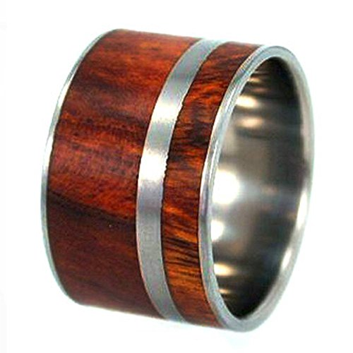 Ironwood with Ring Armor 9mm Comfort Fit Titanium Wedding Band, Size 13