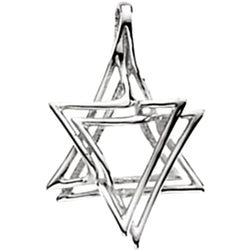 Star of David Sterling Silver Pendant (Made in Holy Land)