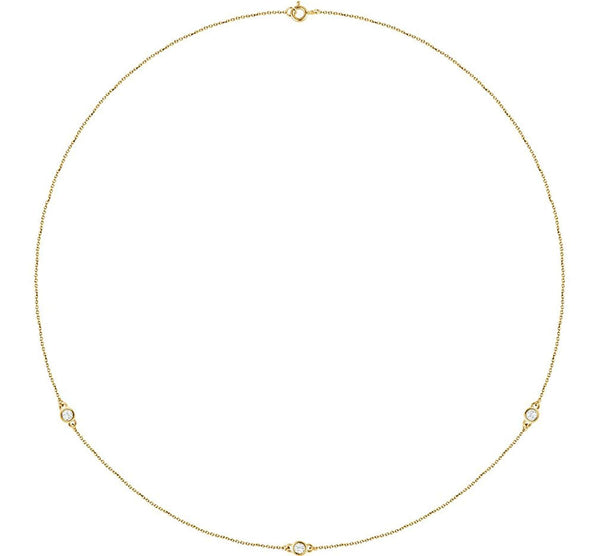 "Diamond Solitaire 14k Yellow Gold Pendant Necklace, 18"" (1/4 Cttw)"