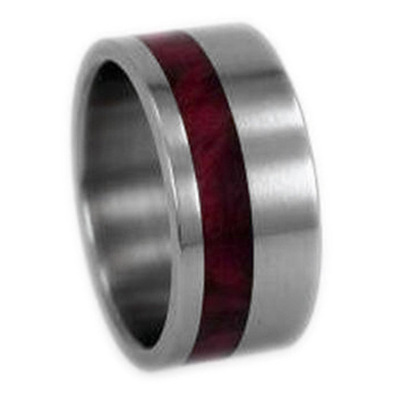 The Men's Jewelry Store (Unisex Jewelry) Redwood Inlay 10mm Comfort Fit Titanium Wedding Ring