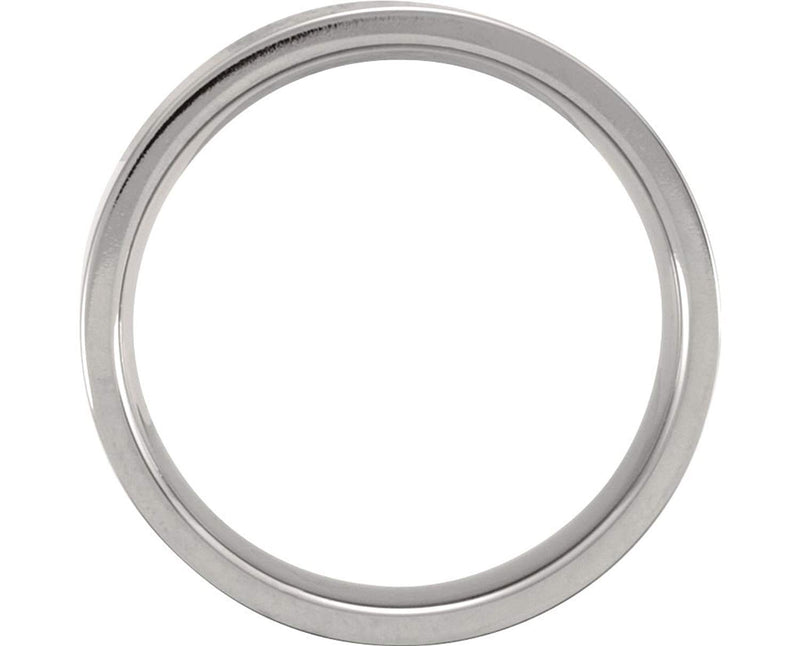 Titanium 6mm Comfort Fit Flat Band, Size 12.5
