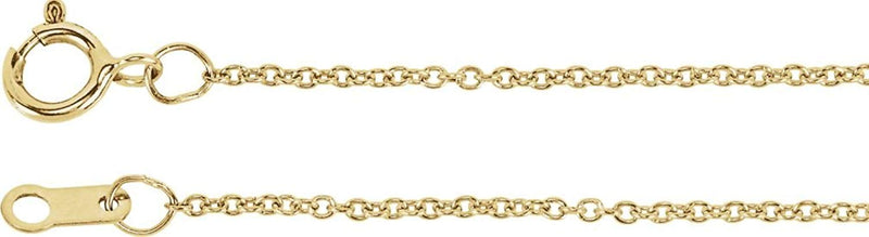 "Diamond Petite Sideways Cross 14k Yellow Gold Necklace, 16""-18"" (.25 Ctw, H-J Color, I3 Clarity)"