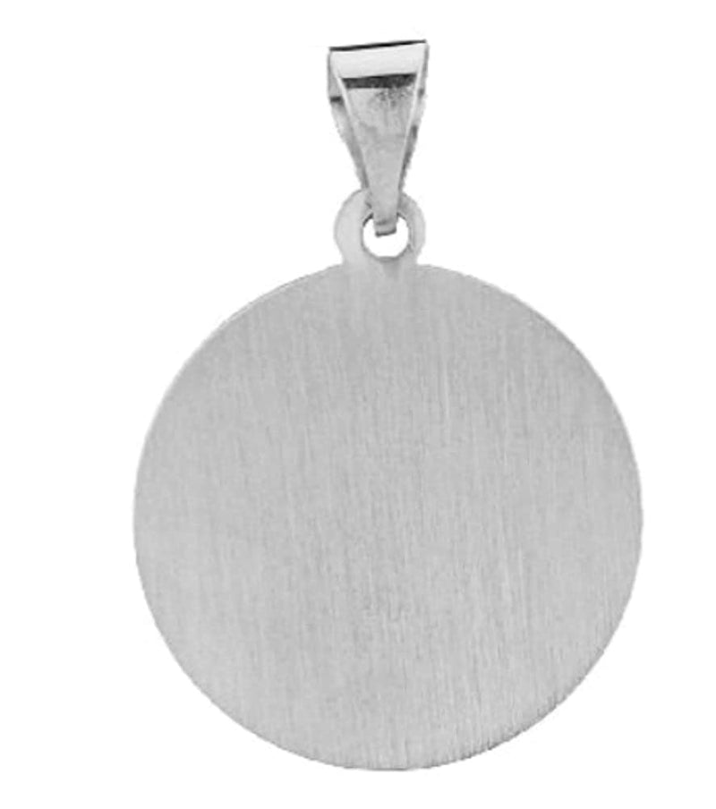 Rhodium-Plated 14k White Gold Miraculous Medal Pendant (20X18MM)