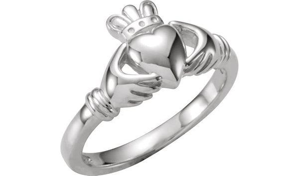 Childrens Sterling Silver Claddagh Ring, Size 5