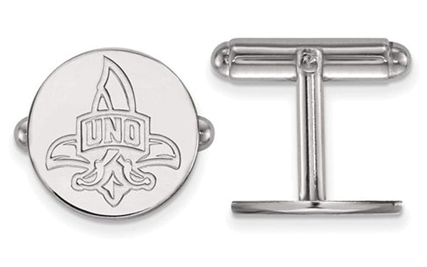 Rhodium-Plated Sterling Silver, University Of New Orleans Cuff Links, 15MM
