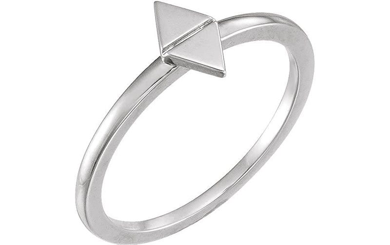 Geometric Stackable Ring, 14k White Gold