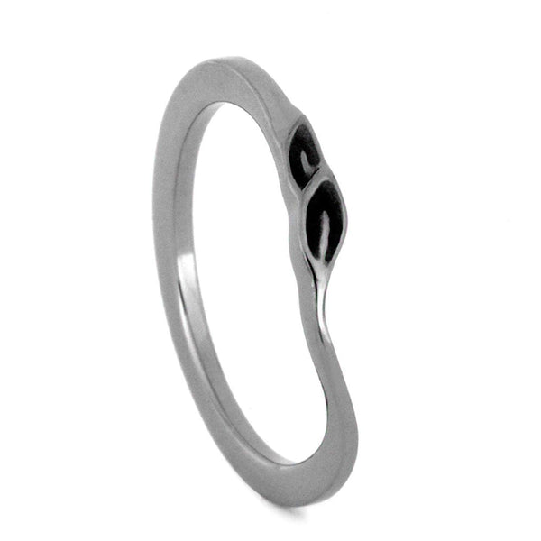 Sandblast Leaves Slim-Profile1.5mm Comfort-Fit Titanium Wedding Band