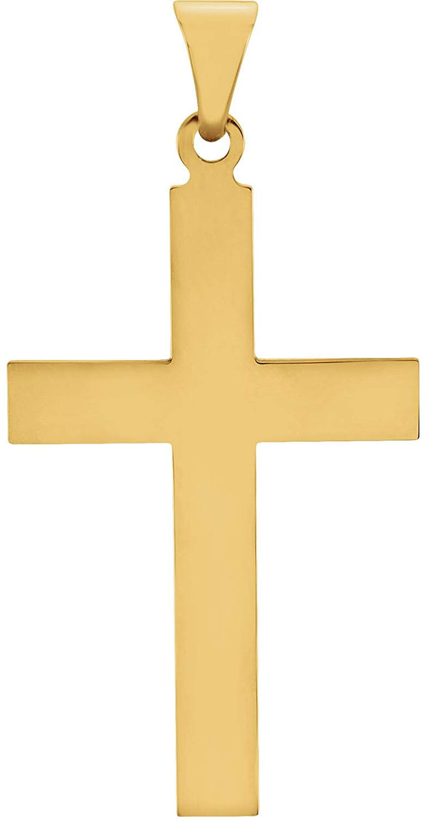 Western Cross 14k Yellow Gold Pendant (25X14MM)