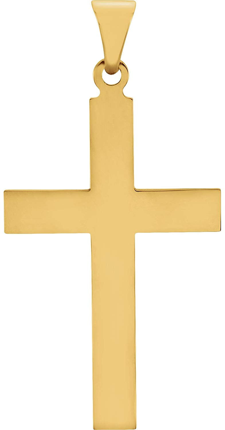 Western Cross 14k Yellow Gold Pendant (21X12MM)