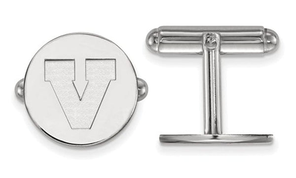 Rhodium-Plated Sterling Silver University Of Virginia Cuff Links, 15MM