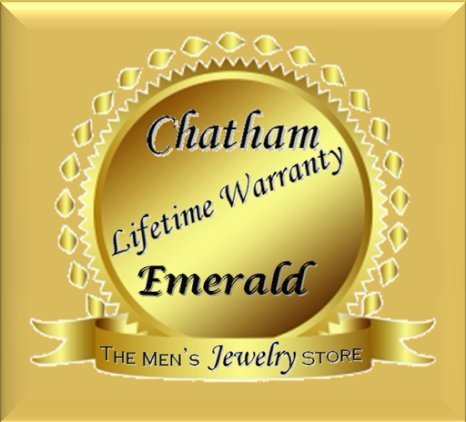 Chatham Created Emerald J-Hoop Earrings, 14k Yellow Gold