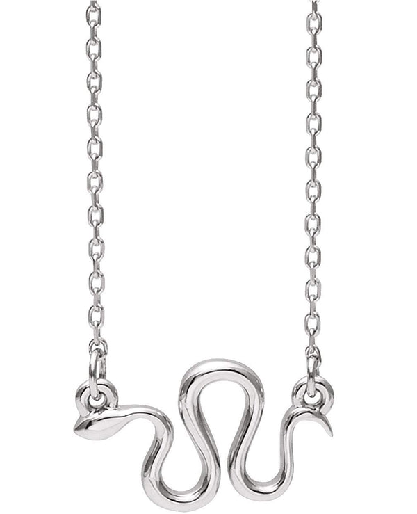 Platinum Snake Necklace, 18""