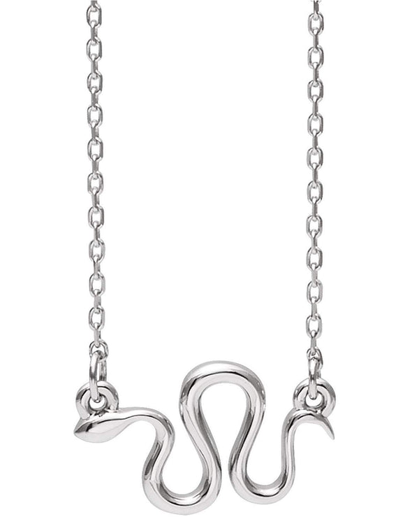 Snake Necklace, Sterling Silver, 18""