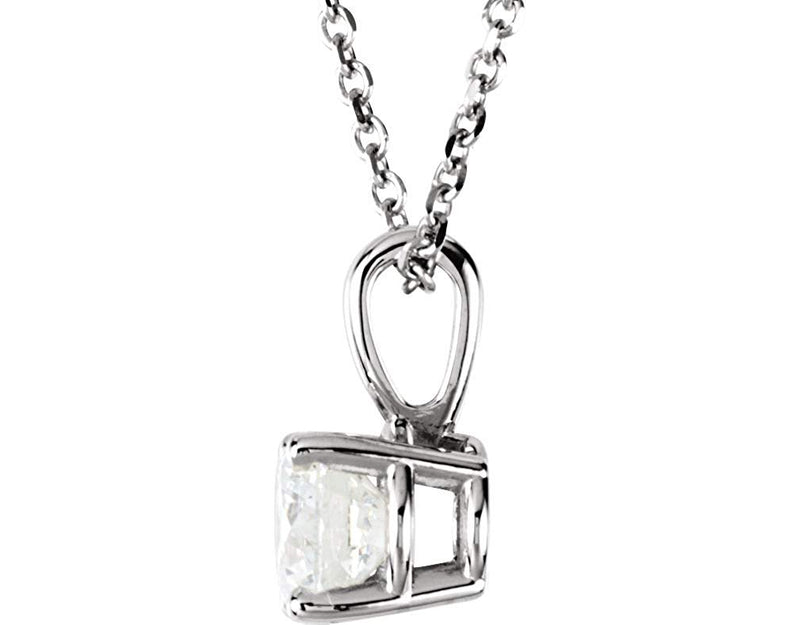 "Diamond Pendant Necklace in 14k White Gold, 18"" (.50 Cttw)"