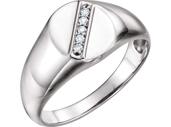 Men's Platinum Diamond Journey Ring (.08 Ctw, G-H Color, SI2-SI3 Clarity) Size 10.25