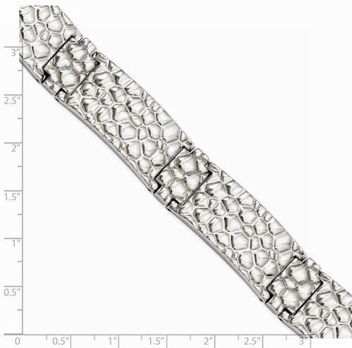 Men's Stainless Steel 16mm Textured Bracelet, 8.25 Inches