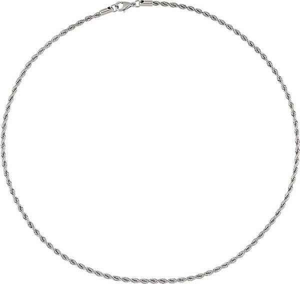 3 mm Stainless Steel Rope Chain, 20""