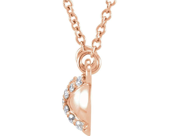"13-Stone Diamond 14k Rose Gold Pendant Necklace, 16.4"" (.07 Cttw)"