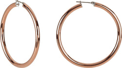 Amalfi Twisted Hoop Earrings, Immerse Plated Stainless Steel (6.5X66mm RIP)