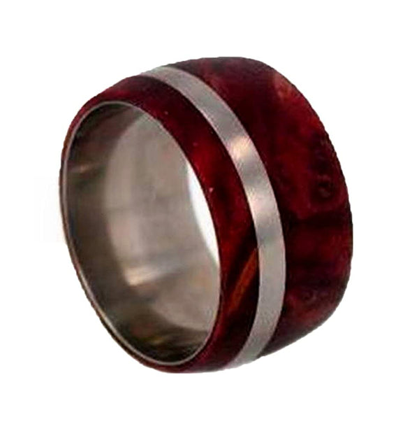 Redwood 10mm Comfort Fit Matte Titanium Wedding Band