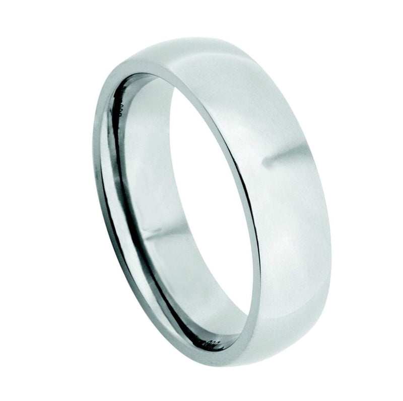 Men's Titanium 6mm Comfort-Fit Polished Dome Band