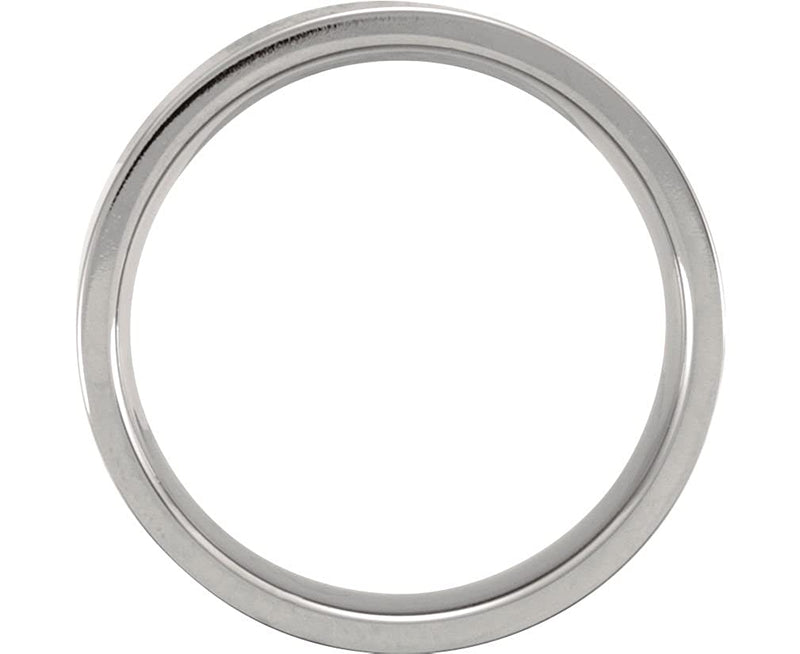 Titanium 6mm Comfort Fit Flat Band, Size 10.5