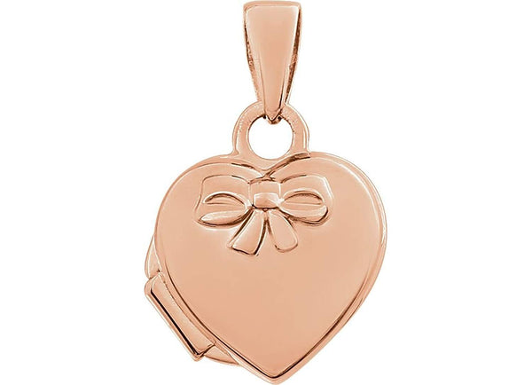 Petite 14k Rose Gold Heart Locket Pendant