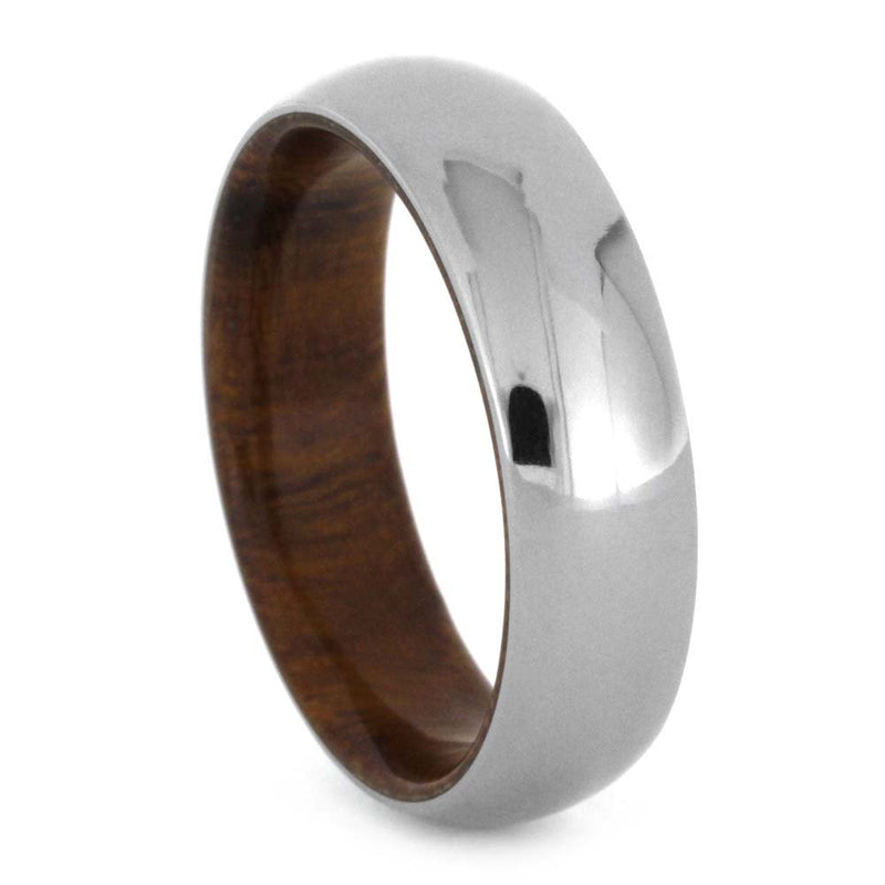 Polished Titanium Dome 6mm Comfort Fit Ironwood Band