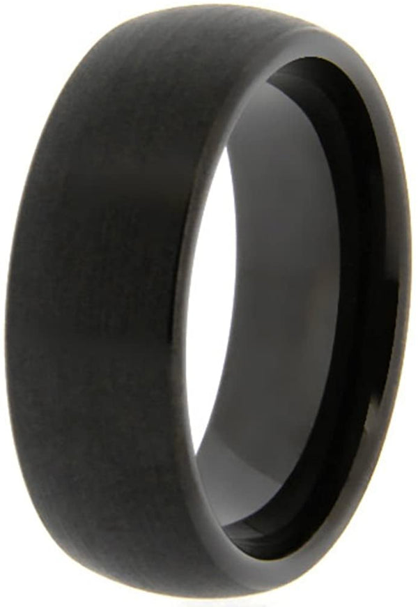 The Men's Jewelry Store (Unisex Jewelry) 8mm Comfort Fit Satin Black Tungsten Band, Size 13