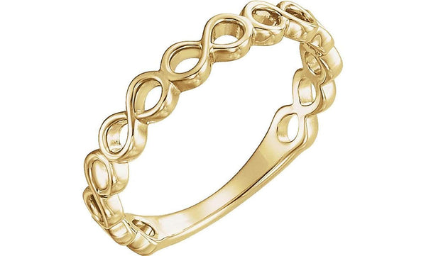 Infinity-Inspired Stackable Ring, 14k Yellow Gold