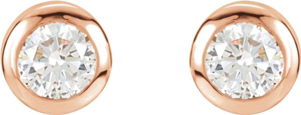 Diamond Stud Earrings, 14k Rose Gold (1 Cttw, Color GH, Clarity I1)