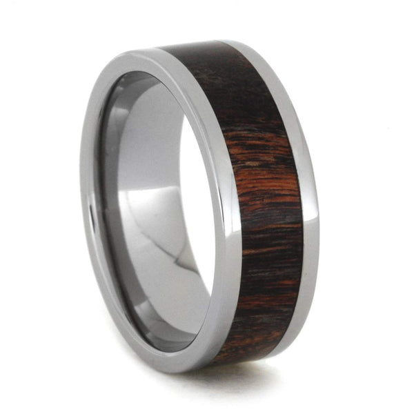 Red and Black Poplar Wood 8mm Comfort-Fit Titanium Wedding Band