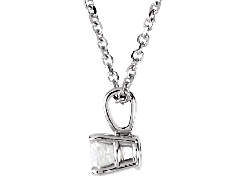 "Diamond Pendant Necklace in 14k White Gold, 18"" (1/4 Cttw)"