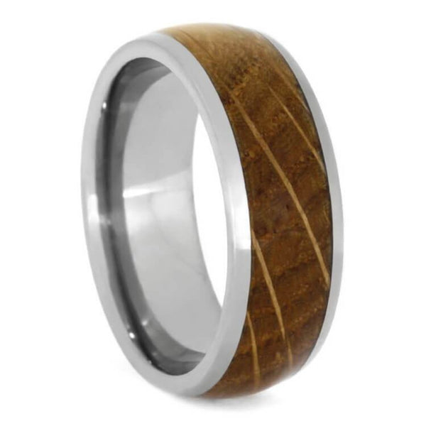 The Men's Jewelry Store (Unisex Jewelry) Whiskey Barrel Oak Wood 8mm Titanium Comfort-Fit Wedding Band