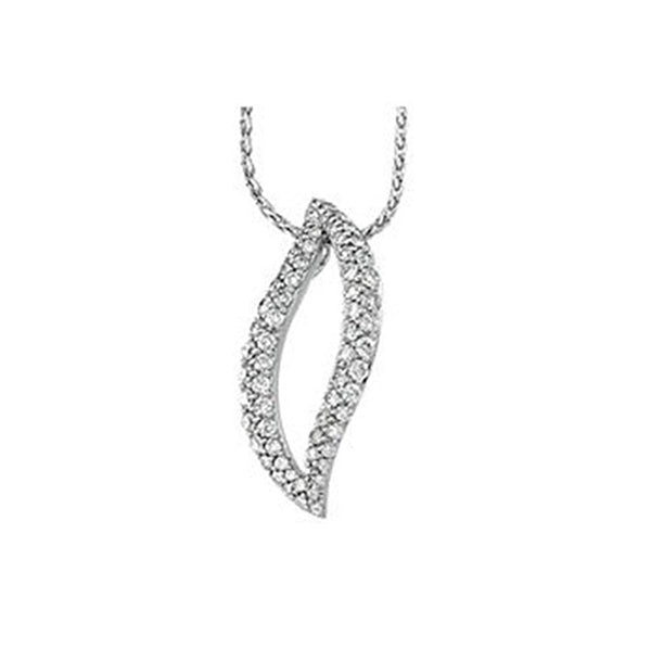 14k White Gold 1 Cttw. Diamond Pendant Necklace, 18""