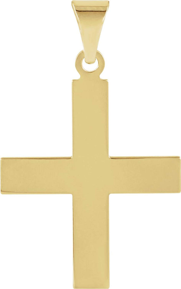 Women's Greek Cross 14k Yellow Gold Pendant