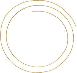 .9 mm 14k Yellow Gold Wheat Chain, 16 ""