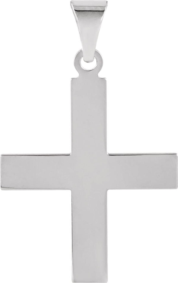 Women's Greek Cross 14k White Gold Pendant