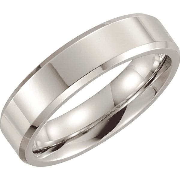 Men's Cobalt 6mm High Polished Comfort Fit Band,Size 11