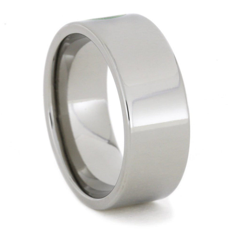 Glow in the Dark Infinity Symbol 8mm Comfort-Fit Titanium Ring
