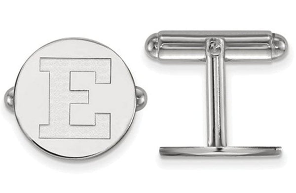 Rhodium-Plated Sterling Silver, Eastern Michigan University, Cuff Links, 15MM