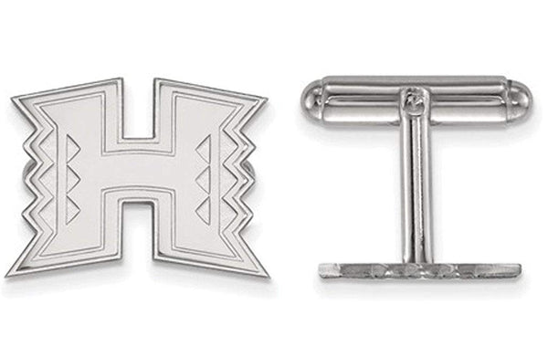 Rhodium-Plated Sterling Silver, The University of Hawai'i, Cuff Links, 9MMX11MM