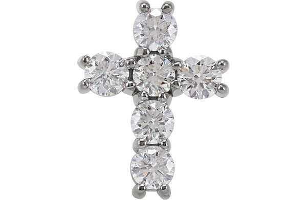 Platinum Diamond Cross Pendant, (3/4 Ctw, Color G-H, Clarity I1)