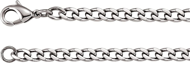 4.8 mm Stainless Steel Curb Chain, 18""