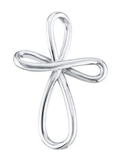 Infinity Cross Rhodium-Plated 14k White Gold Pendant (39X26.25 MM)