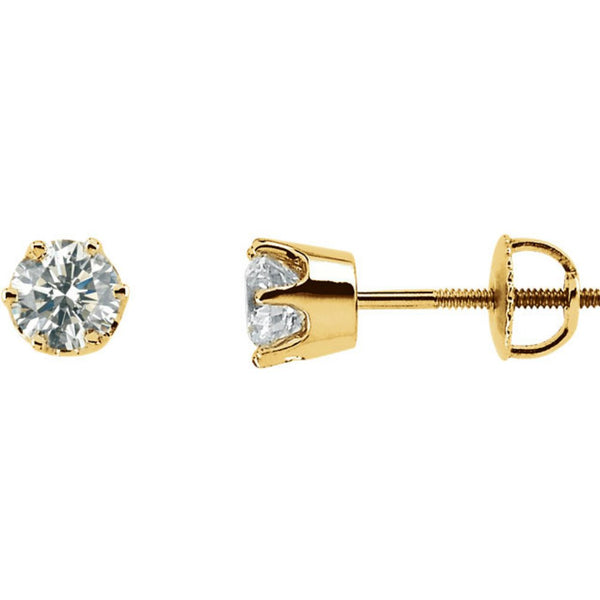 Diamond Stud Earrings, 14k Yellow Gold (1.5 Cttw, Color GH, Clarity SI2-SI3)
