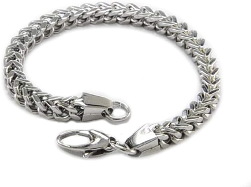 Men's Stainless Steel 6mm Franco Link Bracelet, 9 Inches