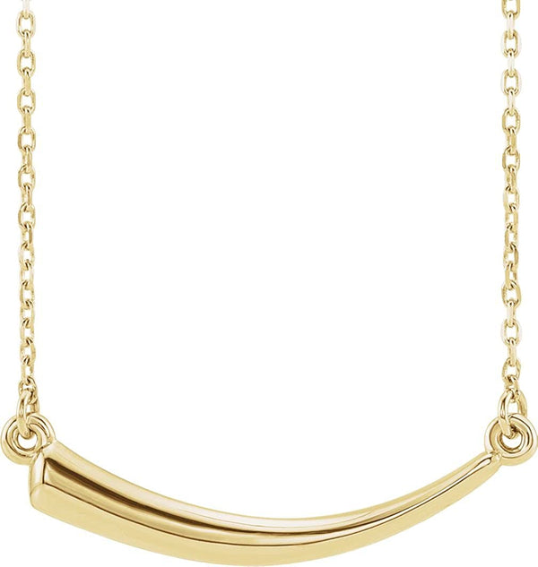 Mirror-Polished Horn Necklace, 14k Yellow Gold, 18""
