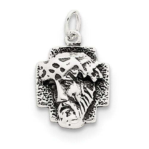 Sterling Silver Antiqued Ecce Homo Medal (30X21MM)